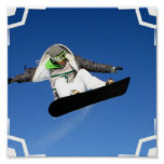 Big Air Snowboarding POster