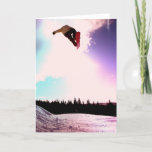 Snowboard Air Greeting Card