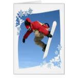 Snowboard Grab Greeting Card