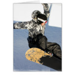Snowboard Launch Greeting Cards